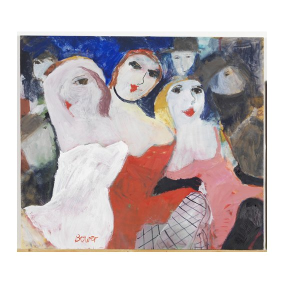Cuadro -Les Belles Dames, 2009 (oil on board)-