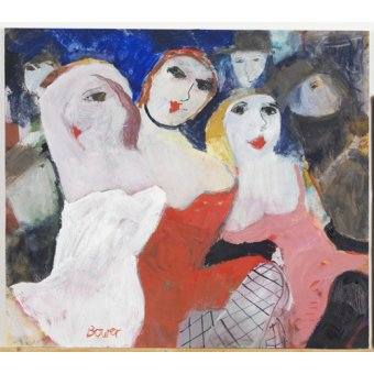 cuadros modernos - Cuadro -Les Belles Dames, 2009 (oil on board)- - Bower, Susan