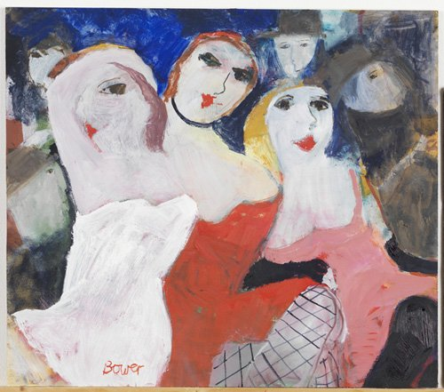 cuadros-modernos - Cuadro -Les Belles Dames, 2009 (oil on board)- - Bower, Susan