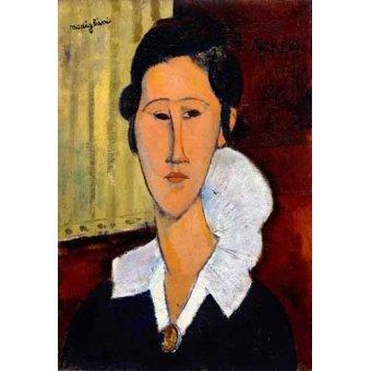 cuadros de retrato - Cuadro -Retrato de Anna Zborowska- - Modigliani, Amedeo