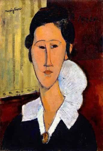 cuadros-de-retrato - Cuadro -Retrato de Anna Zborowska- - Modigliani, Amedeo