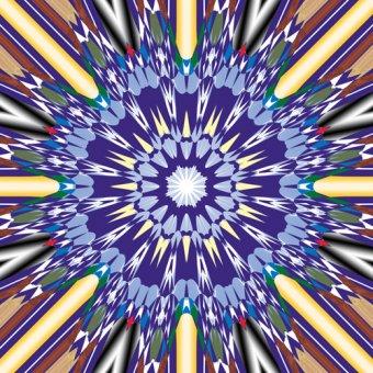 cuadros abstractos - Cuadro -mandala,2019,(mixed media)- - Caminker, Alex