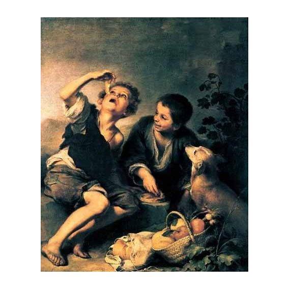 cuadros de retrato - Cuadro -Niños comiendo pasteles-