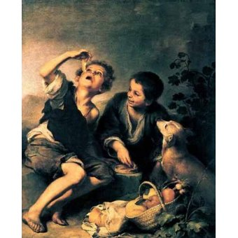 - Cuadro -Niños comiendo pasteles- - Murillo, Bartolome Esteban