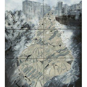 cuadros abstractos - Cuadro -Tokyo Storm II - - Carline, Hermione