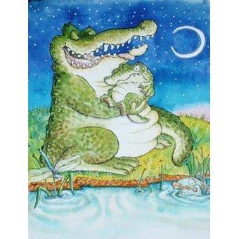 cuadros infantiles - Cuadro -Crocodile Lullaby - - Christie, Maylee