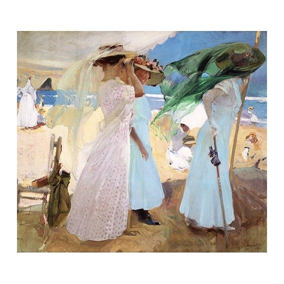 Cuadro -Bajo el toldo, Zarautz, 1910 -