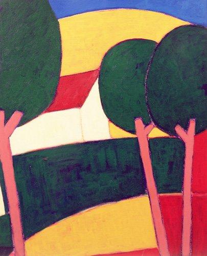 cuadros-modernos - Cuadro -Provencal Paysage, 1997 - - Donne, Eithne
