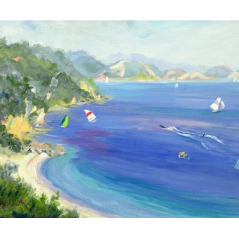 cuadros de marinas - Cuadro -  Lichnos, Epirus, Greece, 1993 - - Durham, Anne