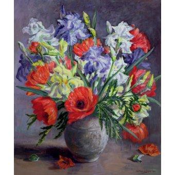 - Cuadro -  Poppies and Irises, 1991 - - Durose, Anthea