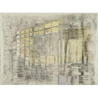 cuadros abstractos - Cuadro -Interior Screen Composition yellow- - Carline, Hermione