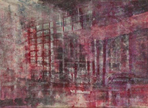 cuadros-abstractos - Cuadro -Interior Screen Composition red- - Carline, Hermione