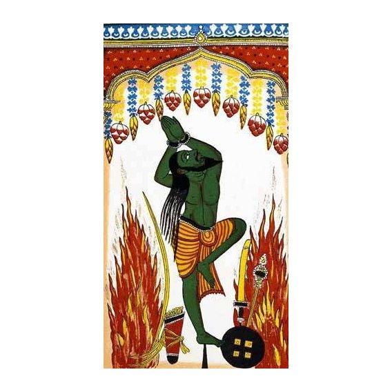 cuadros etnicos y oriente - Cuadro -Ardjama, hombre santo, rezando en penitencia-