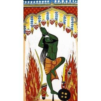 cuadros etnicos y oriente - Cuadro -Ardjama, hombre santo, rezando en penitencia- - _Anónimo Indú