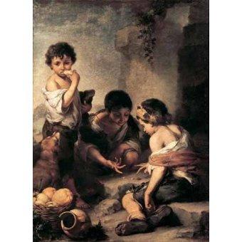 - Cuadro -Niños jugando a los dados- - Murillo, Bartolome Esteban