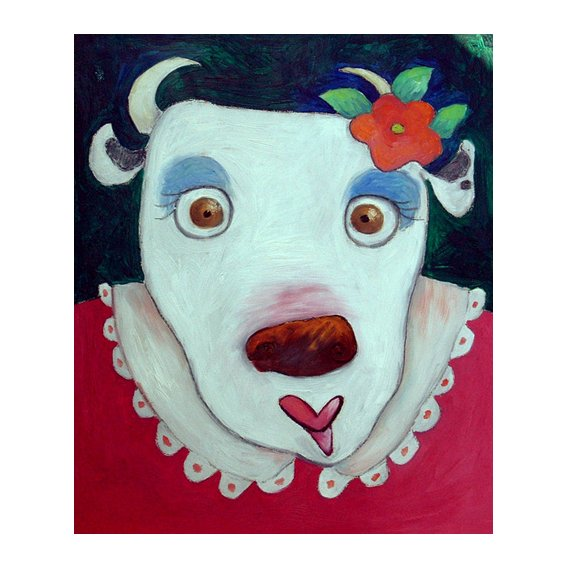 Cuadro -Silly Cow (oil on canvas)-