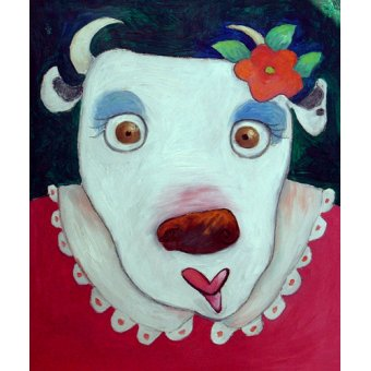 cuadros infantiles - Cuadro -Silly Cow (oil on canvas)- - Christie, Maylee