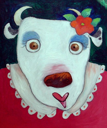 cuadros-infantiles - Cuadro -Silly Cow (oil on canvas)- - Christie, Maylee