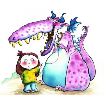 cuadros infantiles - Cuadro -New Pet (w.c & ink on paper)- - Christie, Maylee