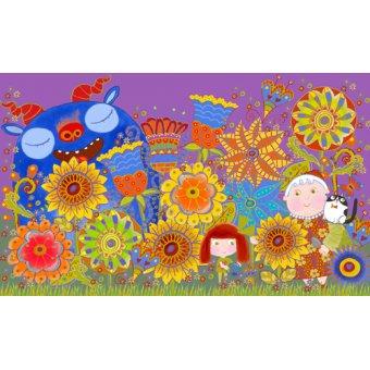 cuadros infantiles - Cuadro -Nan's Garden, 2017 (mixed media)- - Christie, Maylee