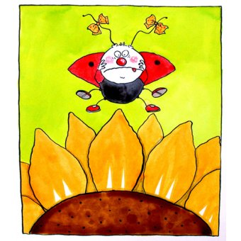 cuadros infantiles - Cuadro-Ladybird (w.c & ink on paper)- - Christie, Maylee