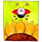 Cuadro-Ladybird (w.c & ink on paper)-