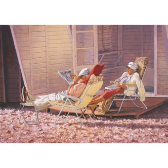 cuadros de retrato - Cuadro -Evening Rest (oil on canvas)- - Cook, Simon