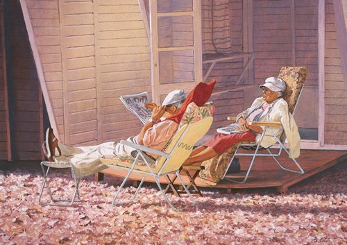 cuadros-modernos - Cuadro -Evening Rest (oil on canvas)- - Cook, Simon