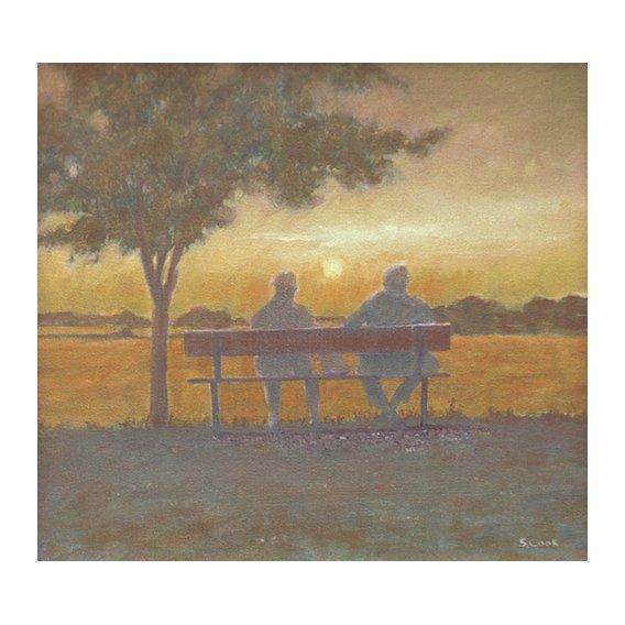 Cuadro -Sunset (oil on canvas)-