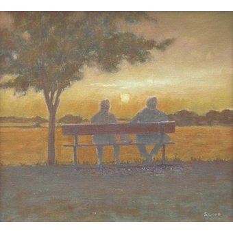 - Cuadro -Sunset (oil on canvas)- - Cook, Simon