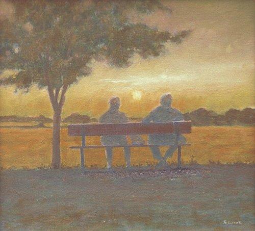 cuadros-modernos - Cuadro -Sunset (oil on canvas)- - Cook, Simon