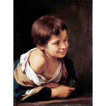 Cuadro -Niño apoyado en un alfeizar-