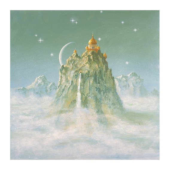 Cuadro -Temple in the Mountain (acrylic on canvas)-