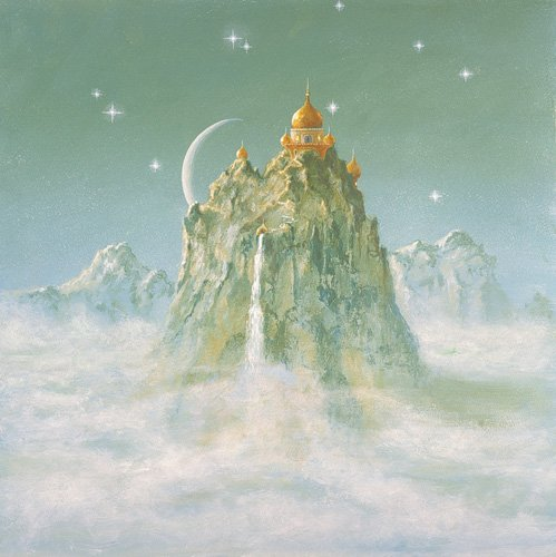 cuadros-modernos - Cuadro -Temple in the Mountain (acrylic on canvas)- - Cook, Simon