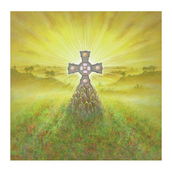 Cuadro -Celtic Cross (acrylic on canvas)-