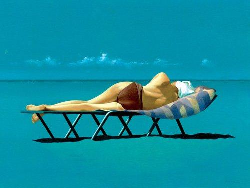 cuadros-modernos - Cuadro -Sunbather (oil on canvas)- - Cook, Simon