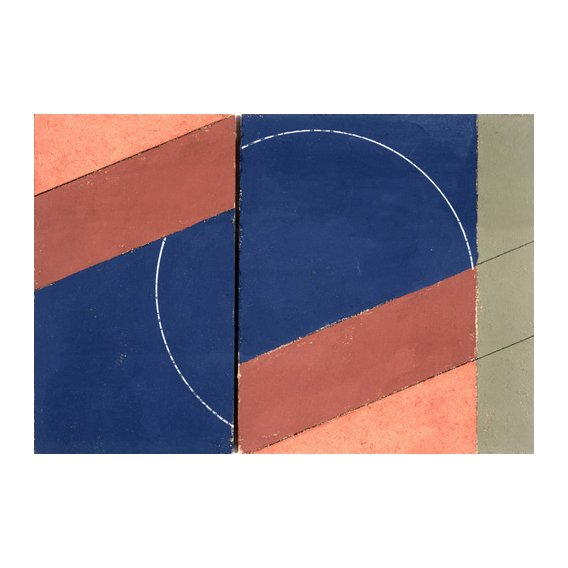 Cuadro -Painting - Interrupted Circle, 2000 (oil on board)-