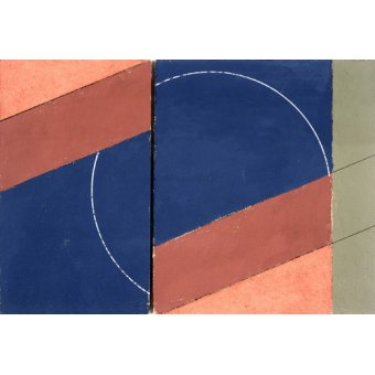 - Cuadro -Painting - Interrupted Circle, 2000 (oil on board)- - Dannatt, George