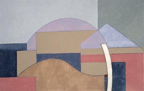 cuadros-abstractos - Cuadro -Farm End, 2002 (oil on board)- - Dannatt, George