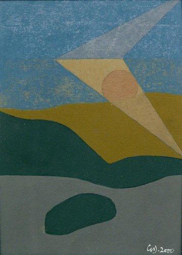 cuadros-abstractos - Cuadro -Untitled, 2000 (oil on card)- - Dannatt, George