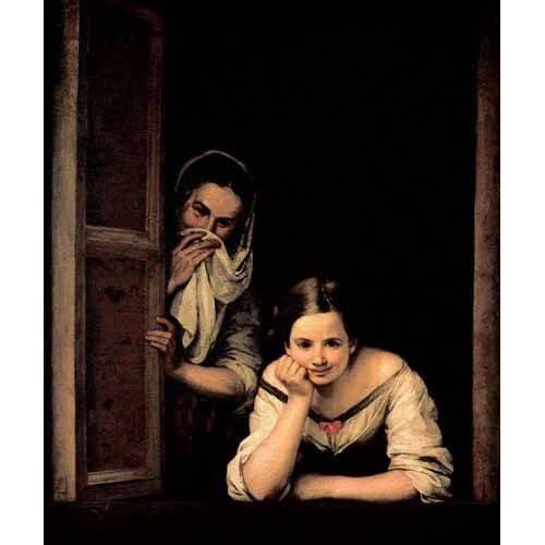 cuadros de retrato - Cuadro -Gallegas en la ventana-