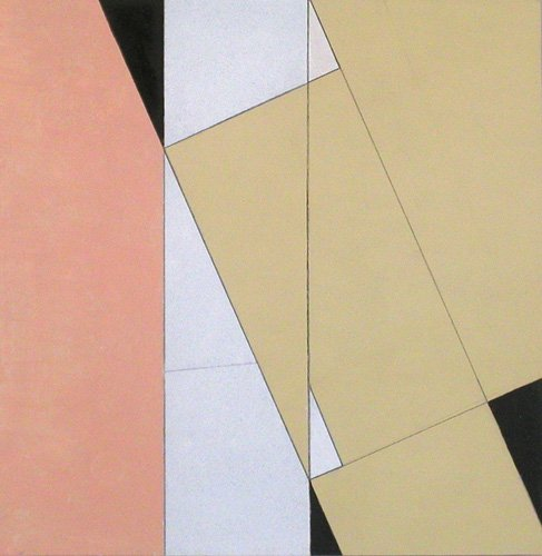 cuadros-abstractos - Cuadro -Spatial Relationship, No 2, 2003 (oil on paper and board)- - Dannatt, George