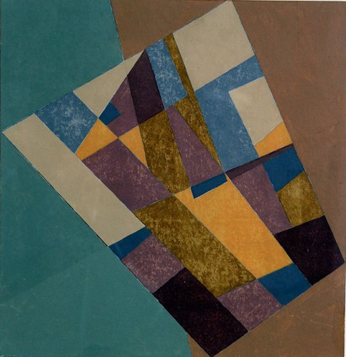 cuadros-abstractos - Cuadro -Field Tapestry, 2003 (oil on card)- - Dannatt, George