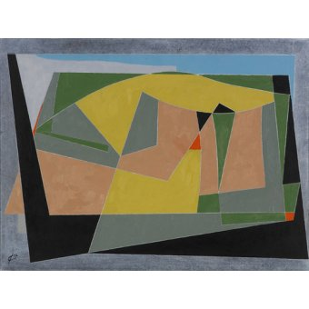 cuadros abstractos - Cuadro -A Landscape by the Sea, 2007 (oil on board)- - Dannatt, George