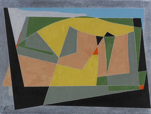 cuadros-abstractos - Cuadro -A Landscape by the Sea, 2007 (oil on board)- - Dannatt, George