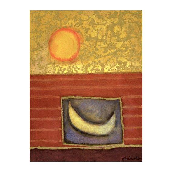Cuadro -The Sun Rises While the Moon Sleeps-