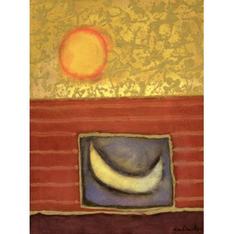cuadros abstractos - Cuadro -The Sun Rises While the Moon Sleeps- - Davidson, Peter