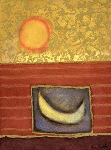 cuadros-modernos - Cuadro -The Sun Rises While the Moon Sleeps- - Davidson, Peter