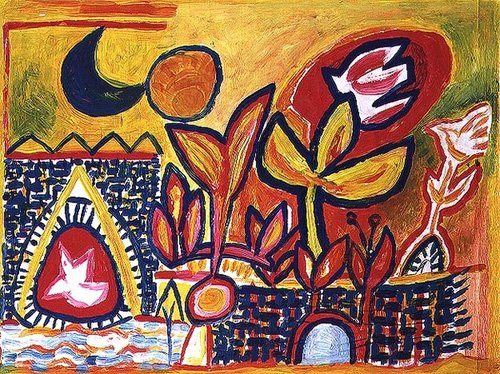 cuadros-modernos - Cuadro -Song to the Sun and Moon- - Davidson, Peter