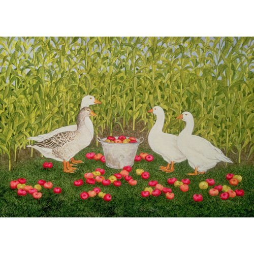 Cuadro -Sweetcorn-Geese-